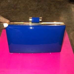 Royal blue chain clutch!!!